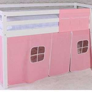 Midsleeper Cabin Bed & Pink Tent