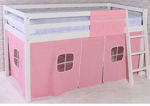 Midsleeper Cabin Bed & Pink Tent