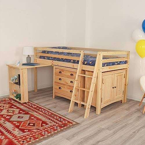 Natural Mid Sleeper Bed