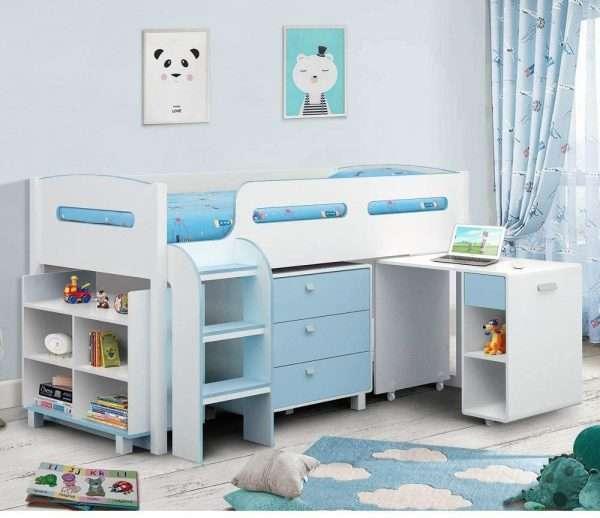 Kimbo Mid Sleeper Cabin Bed blue