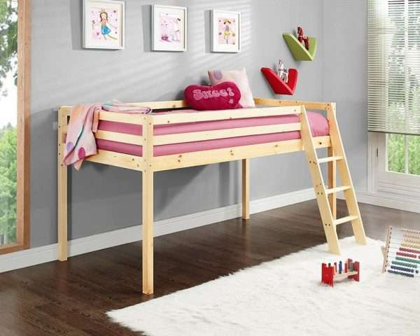 Wooden Mid-Sleeper Bunk Bed Frame
