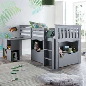 Happy Beds Milo Grey Mid Sleeper Bed