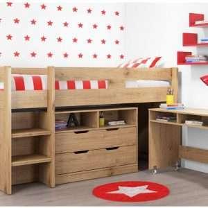 COSMO Mid Sleeper Bed oak