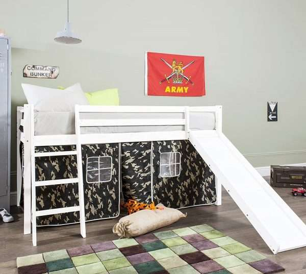 Midsleeper Bed with Army Camouflage