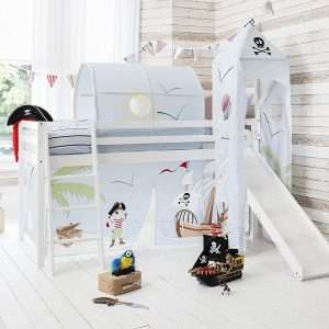 Noa & Nani White Pirate Midsleeper bed
