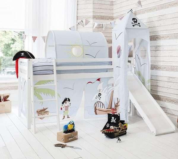 Noa & Nani White Pirate Midsleeper bed