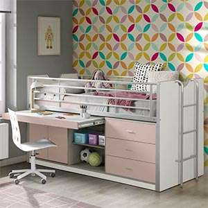 Mid Sleeper Beds with Desk