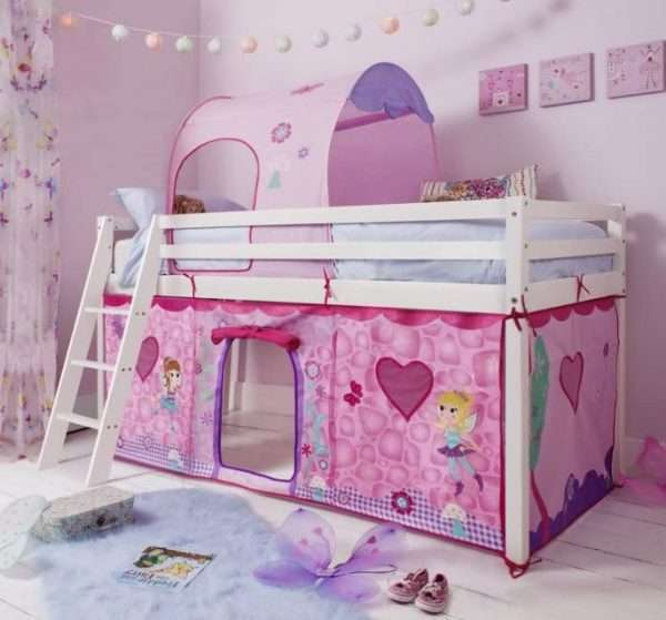 Midsleeper Bed With Fairies Tent