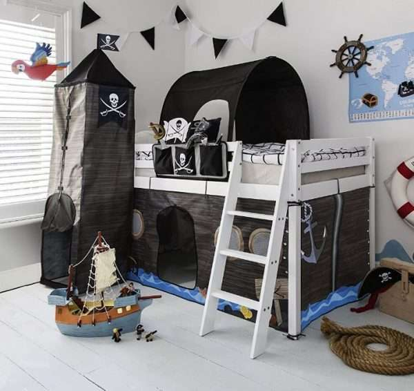 Midsleeper Bed with Pirate Tent